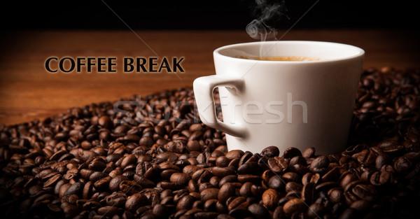 カップ ブラックコーヒー コーヒー 豆 タイトル ストックフォト © mizar_21984
