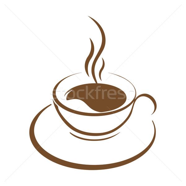 hot coffee cup vector Stock photo © mizar_21984
