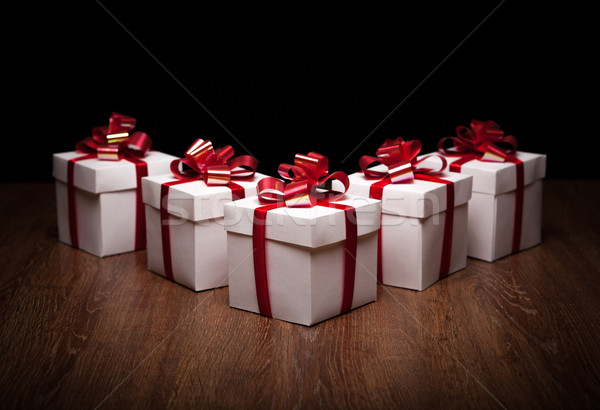 small gift boxes on the table Stock photo © mizar_21984