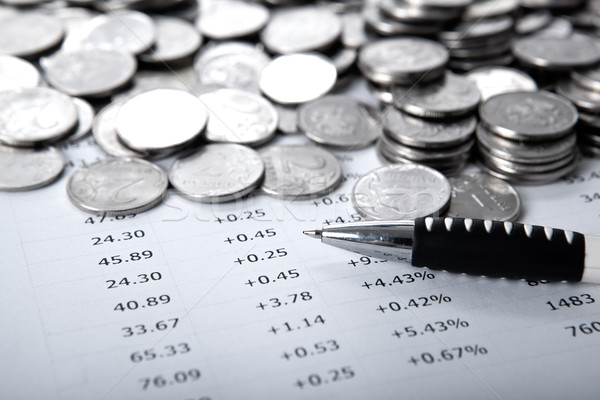 pile of coins and counting Stock photo © mizar_21984