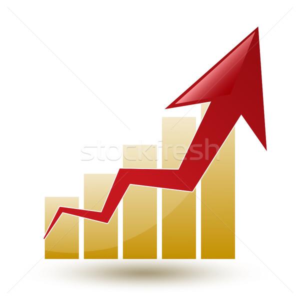 Tabla flecha blanco progreso grande financiar Foto stock © mizar_21984