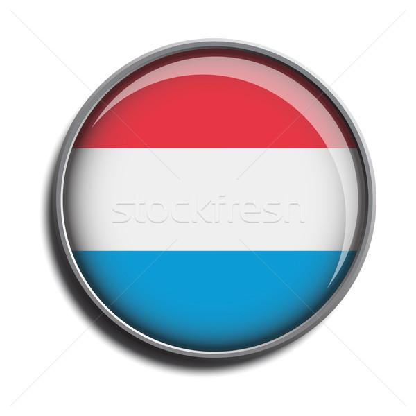 flag icon web button luxembourg Stock photo © mizar_21984