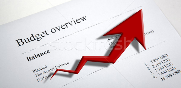 table with earnings with digits and diagram Stock photo © mizar_21984