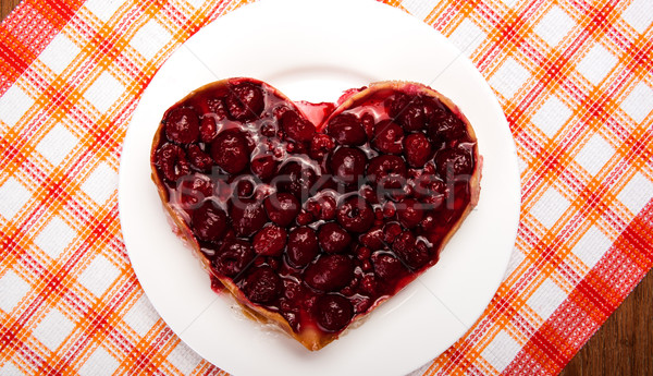 raspberry pie in the form of heart Stock photo © mizar_21984