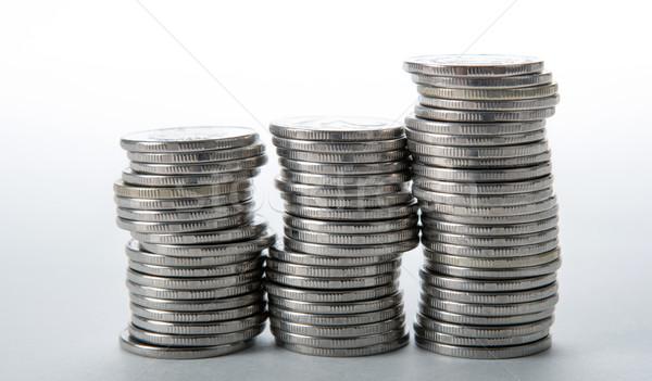 монетами белый деньги наличных цен Сток-фото © mizar_21984