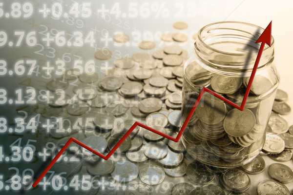 pension with bank of coins Stock photo © mizar_21984