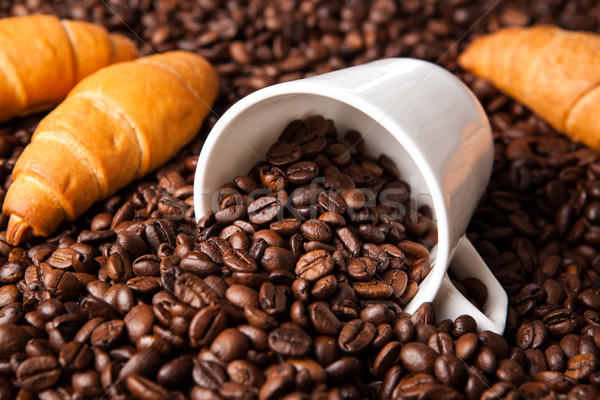 inverted cup with coffee beans Stock photo © mizar_21984
