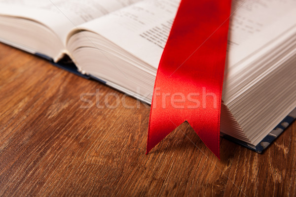large book with bookmark Stock photo © mizar_21984
