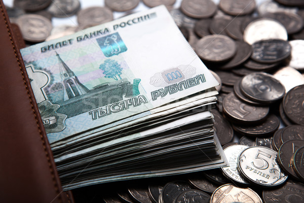 money in the form of banknotes and coins  Stock photo © mizar_21984