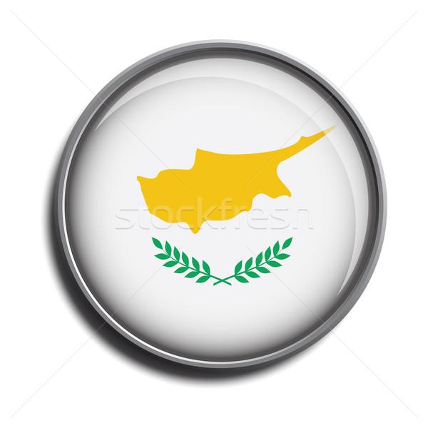 フラグ アイコン webボタン キプロス 孤立した 白 ストックフォト © mizar_21984