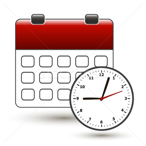 tear-off calendar with clockface Stock photo © mizar_21984