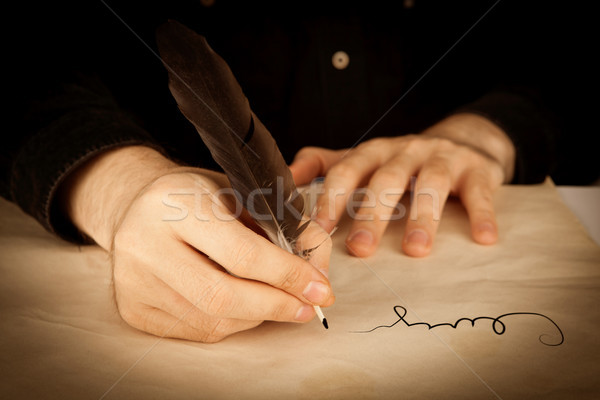 the signing of a contract closeup Stock photo © mizar_21984