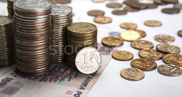 stacks of Russian rubles with note Stock photo © mizar_21984