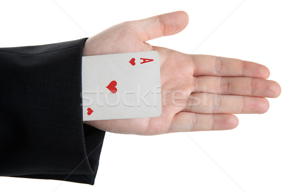 card ace of hearts from the sleeve of jacket Stock photo © mizar_21984