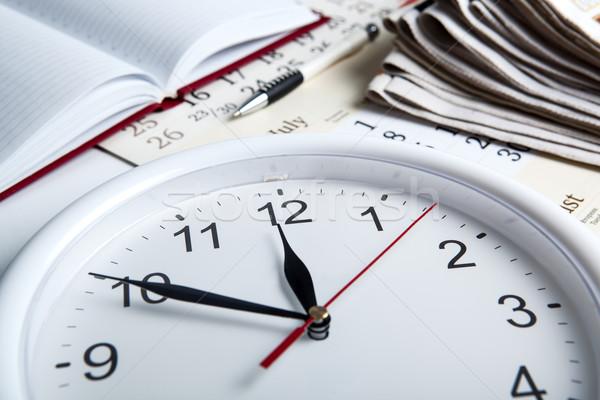 Negócio vida escritório jornal calendário Foto stock © mizar_21984