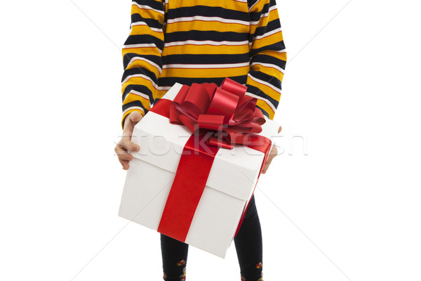 gift box in the children's hands Stock photo © mizar_21984