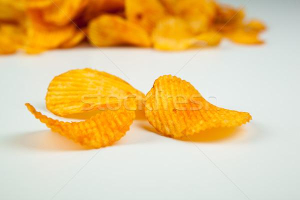 handful of corrugated potato chips Stock photo © mizar_21984