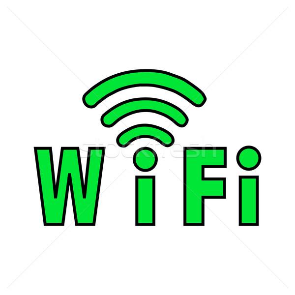 Label Wi-Fi Stock photo © mizar_21984