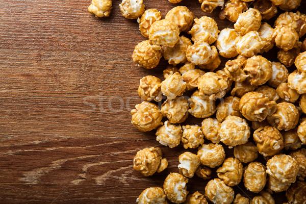 Dourado caramelo milho cozinhar pipoca Foto stock © mizar_21984