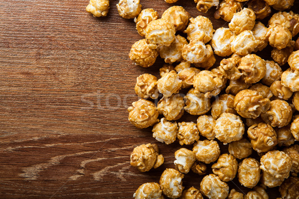 Stock photo: a lot of golden caramel corn background