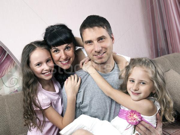 Feliz cuatro personas uno madre familia Foto stock © mizar_21984