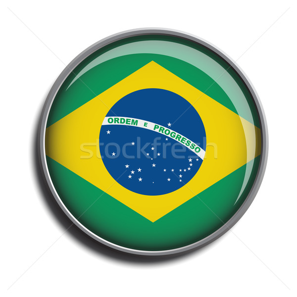 flag icon web button brazil Stock photo © mizar_21984