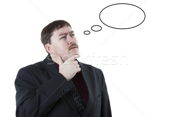 portrait of a man thinking Stock photo © mizar_21984