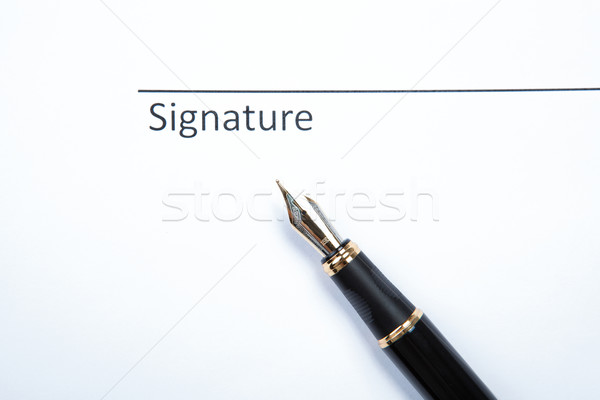 pen and signature Stock photo © mizar_21984