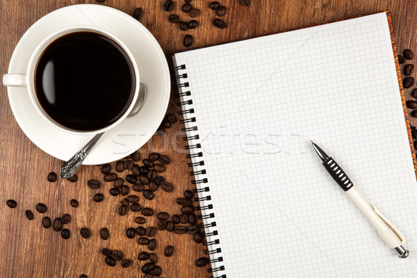 business still-life with cup of coffee Stock photo © mizar_21984