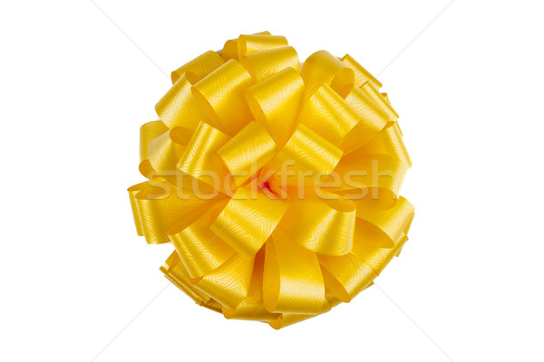 yellow ribbon with a bow Stock photo © mizar_21984
