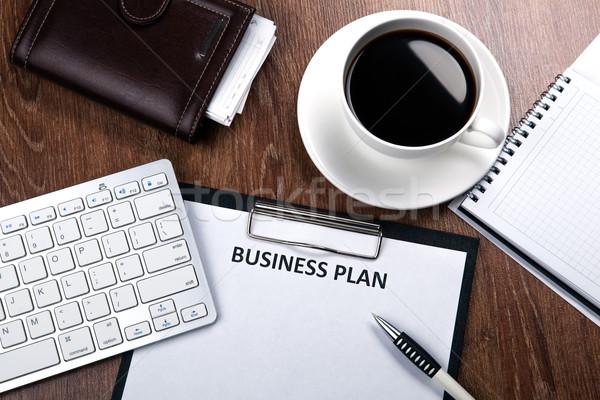 Business still life with business plan Stock photo © mizar_21984