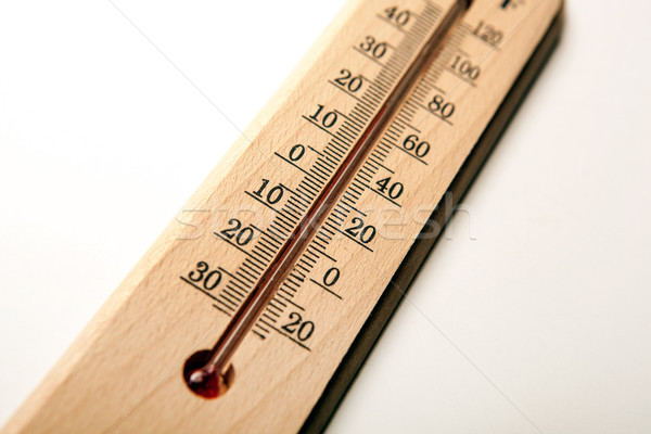 wall thermometer on white table Stock photo © mizar_21984