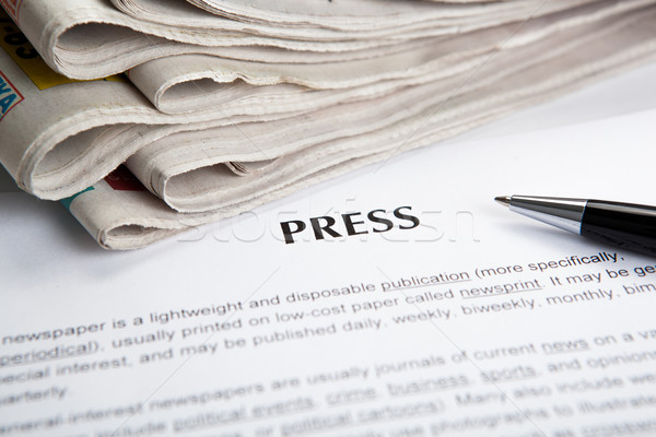 document with the title of press Stock photo © mizar_21984