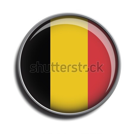 フラグ アイコン webボタン ベルギー 孤立した 白 ストックフォト © mizar_21984