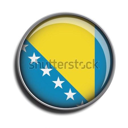 flag icon web button bosnia Stock photo © mizar_21984