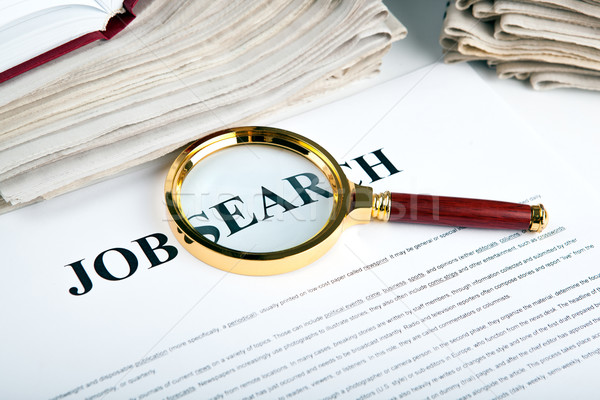 Stock photo: office supplies and job search