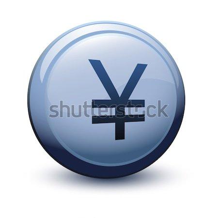 button tick white 2d Stock photo © mizar_21984
