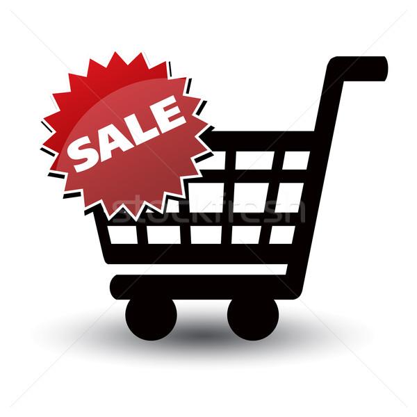 Cesta preto bilhete venda branco negócio Foto stock © mizar_21984