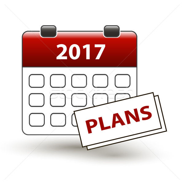 tear-off calendar with a note with a title plans Stock photo © mizar_21984