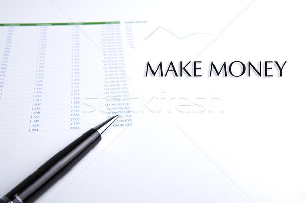 üzlet toll fehér közelkép papír állás Stock fotó © mizar_21984