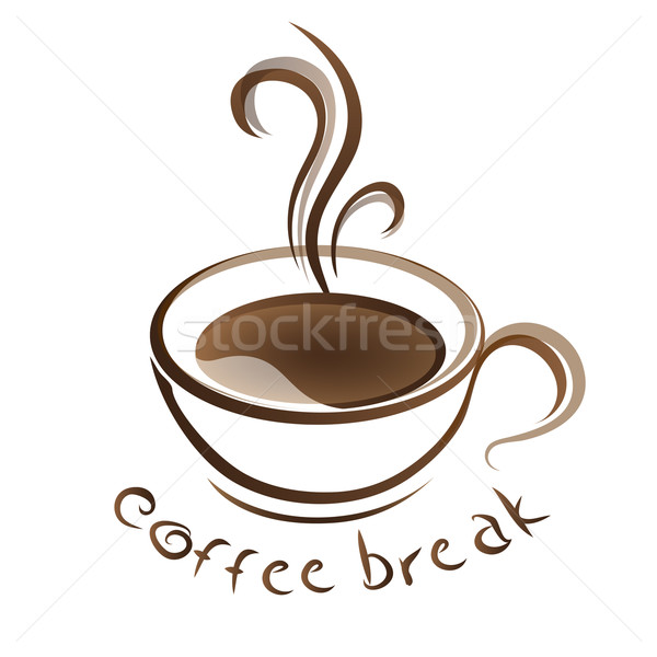 hot coffee cup with text vector Stock photo © mizar_21984