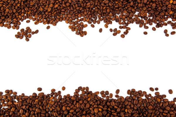 lot of roasted coffee beans Stock photo © mizar_21984