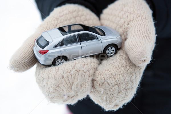 Ragazza mani modello auto primo piano mano Foto d'archivio © mizar_21984