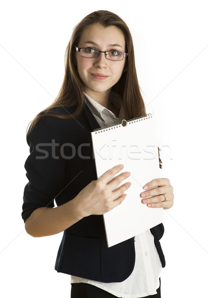 young girl in a business form Stock photo © mizar_21984