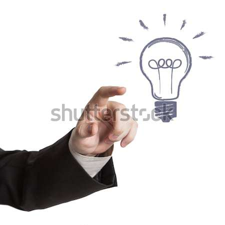 human hand and idea icon on a white Stock photo © mizar_21984