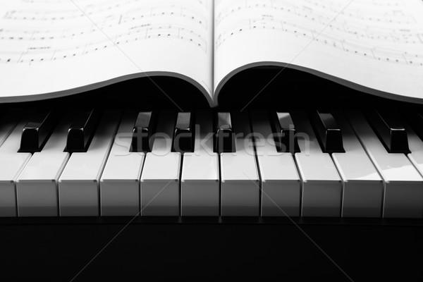 Piano keys and musical book Stock photo © mizar_21984
