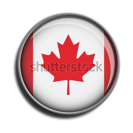 flag icon web button canada Stock photo © mizar_21984