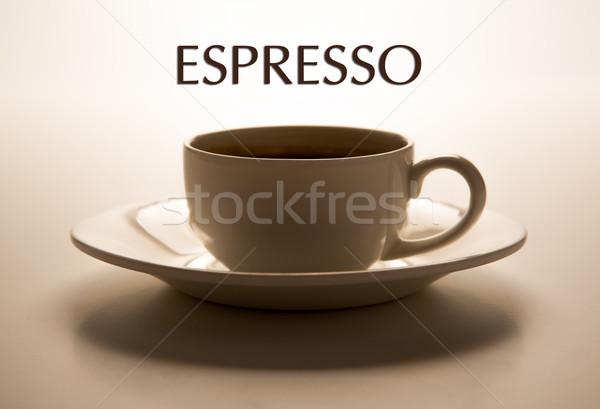 стекла Кубок блюдце название эспрессо Сток-фото © mizar_21984