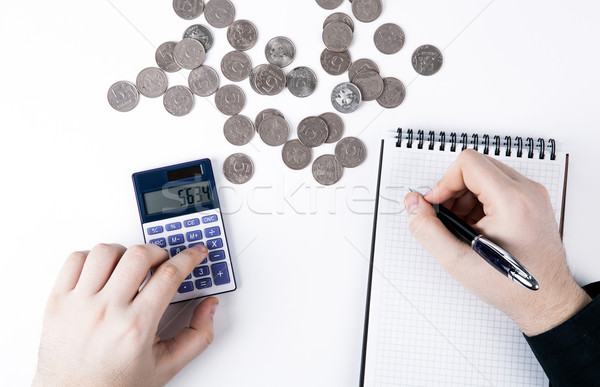Man budget blanke man witte geld Stockfoto © mizar_21984