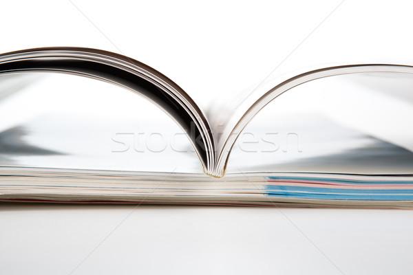 Foto stock: Revistas · branco · negócio · madeira